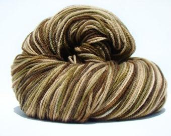 Jumbo Skein, Camo Dyed Wool, Hand Painted Yarn, Worsted Weight Yarn, Dyed Wool Yarn, Camo Dyed Yarn, Hand Painted Wool