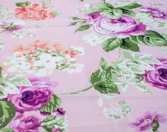 Soft Pink and Magenta floral fabric