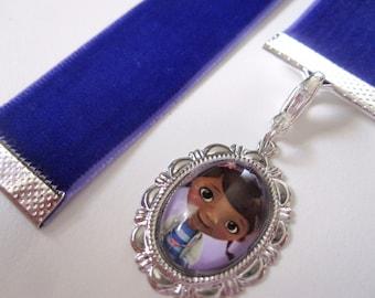 Purple Velvet Bookmark w/Doc McStuffins Charm