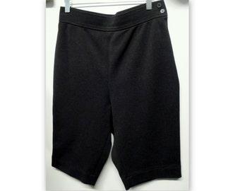 SAINT LAURENT Rive Gauche black shorts, waist high