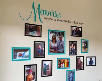 Picture Frame Vinyl Decals, Memory Photograph Wall Decal