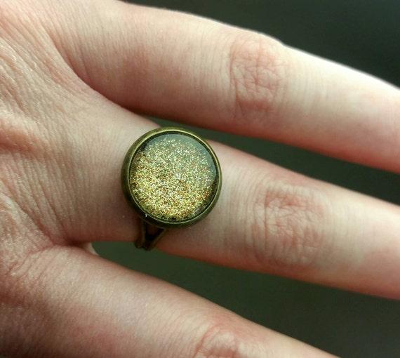 Gold Rock Ring Rock Jewelry Crystal Quartz Ring Nail