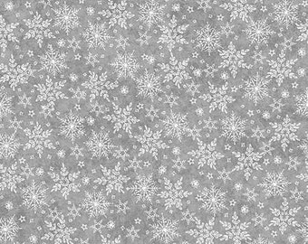 Holiday Frost Snowflake Flannel, Fabric by the Yard