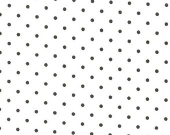 Moda Essential Dots White Black, Fabric by the Yard