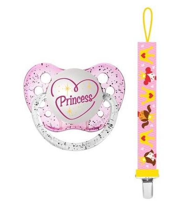 Princess Pacifier Gift Set Princess By MomandBabyBoutique