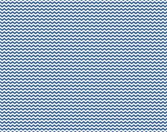 Blue and white mini chevron craft  vinyl sheet - HTV or Adhesive Vinyl -  zig zag pattern HTV4500