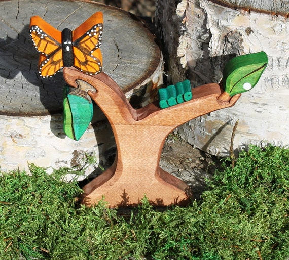 Butterfly Life Cycle Set  - Natural, Eco Friendly, Waldorf Wooden Toy