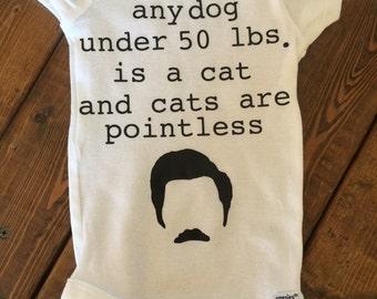 Ron Swanson Cat Onesie