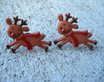 Reindeer Earrings, Holiday Reindeer Earrings, Christmas Reindeer Earrings, Christmas Jewelry, Women's  Earrings