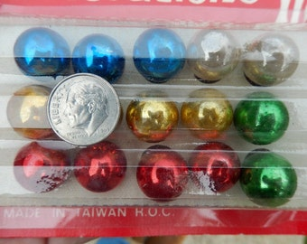 Two Vintage Packages Of Tiny Christmas Feather Tree Glass Balls ~ Miniature Ornaments ~ Lot of Bulbs