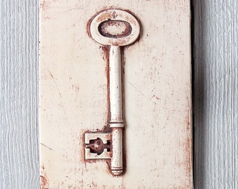 Old Key plaster cast tile