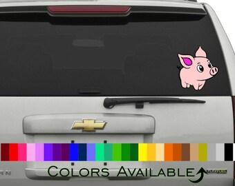 Cute Piggy Car Decal