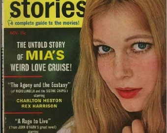 Screen Stories Magazine; November 1965 Mia Farrow cover (Vol. 64, No. 11) Paperback – 1965