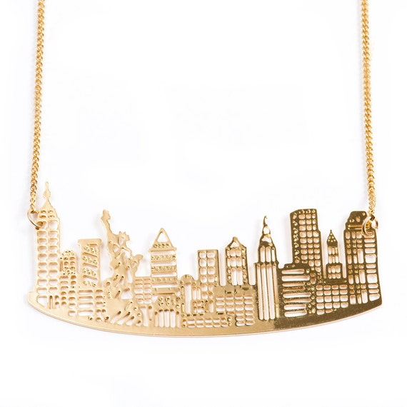 on sale gold silver ny necklace new york jewelry city. Black Bedroom Furniture Sets. Home Design Ideas