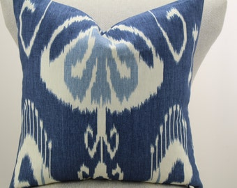 Bansuri Iris kravet fabric pillow cover,throw pillow decorative pillow,lumbar pillow,same fabric on front and back.