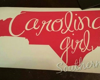 North Carolina window decal for your car, truck, suv