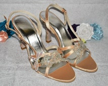 Bespoke Bridal Shoe Service - Create your perfect wedding shoes. Choose your colour, theme, add personal touches. Custom Unique Sandals.