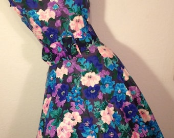 FREE  SHIPPING   1980  Full Circle Dress