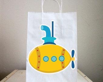 Submarine Goody Bags, Submarine Favor Bags, Submarine Goodie Bags, Submarine Favors
