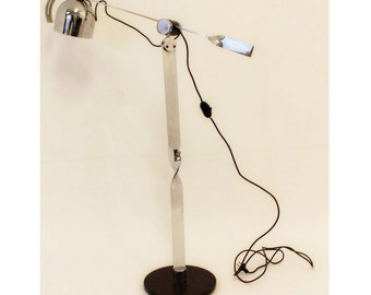 Mid Century Modern Chrome Adjustable Floor Lamp Sonneman
