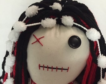 "Creepy n Cute Zombie Doll - ""Red Heart Fluffy"" (P)"