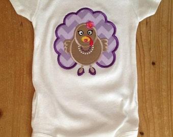 ON SALE Purple Glam Thanksgiving Turkey Shirt or Baby Bodysuit
