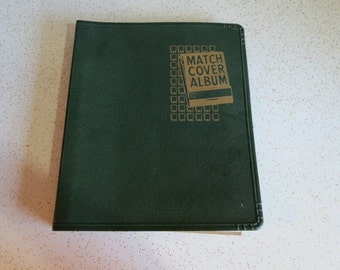 Vintage Matchbook Cover Album with Collection Lot of Over 50 Matchbooks Assorted Locations Hotels, Bars and Restaurants