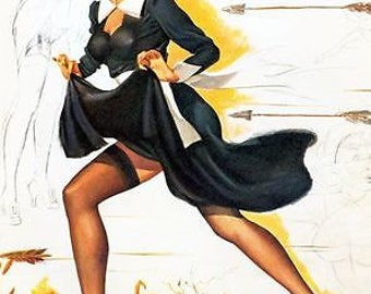 1950's Pin Up Poster 54 A3/A2/A1 Print