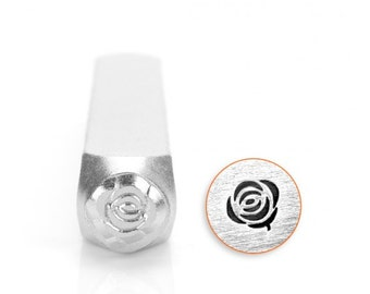 Rose Metal Stamp, ImpressArt, 6mm Jewelry Tool with a Flower Design, Stamping Tool, Steel Stamp
