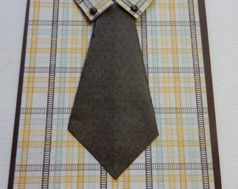 Plaid Shirt and Tie Birthday Card