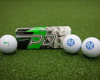 Customized Nike Power Distance Soft Monogram Golf Balls