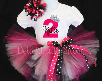 Crown Tutu, Crown Birthday Tutu, Pink Birthday Tutu, Crown Birthday Outfit, Princess Crown Tutu, Tutu Outfit, Birthday Tutu