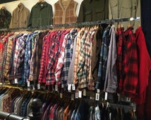 Set of 2 Vintage Oversize Flannel Shirts // Distressed Flannels // 2X-5X plus sizes available