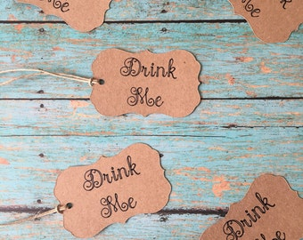 Drink Me Tags