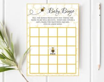 Baby Bingo Baby Shower Game, Mommy To Bee Invitation, 5x7, Item 220