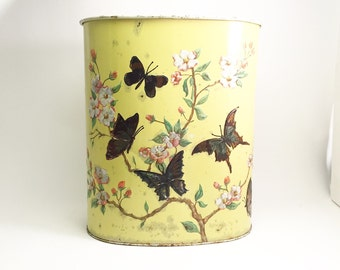1950's Butterfly Metal Trashcan.  Beautiful.  Made in Chicago.