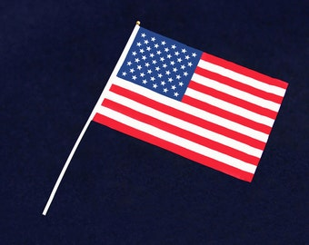 Wholesale Small American Flags on a Stick - 50 Flags (FLAG-01)