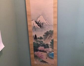 Chinese scroll paiting beautiful scenery