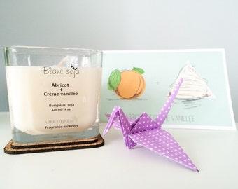 ÉDITION LIMITÉE, bougie Abricotine en collaboration avec Blanc Soja, ensemble cadeau