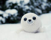 PATTERN - Bubbly the Baby Seal (crochet, amigurumi) - in English