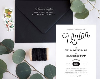 Wedding Invitation Suite Sample - Just My Type