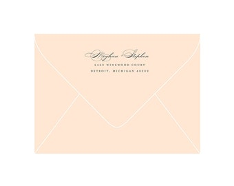 Return Address Stamp - Rubber Stamp with Wooden Handle - Intersect