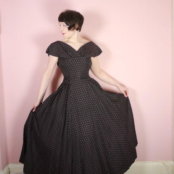 vente des ann es 50 ann es 40 robe de soir e w corsage. Black Bedroom Furniture Sets. Home Design Ideas