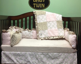 4 Pc Standard Crib Bedding Set- Madison Cozy/ Bella