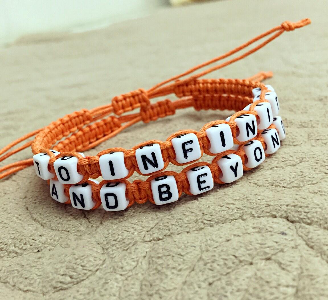 couples bracelets set to infinity and beyond bracelets