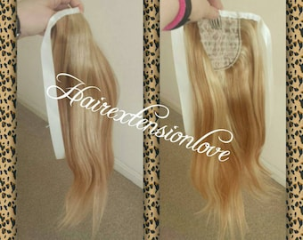 Wrap around-Human hair Ponytail , 100% Human hair extension/ 18 inches.