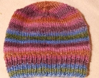 Beanie cup - children - multicolor - crochet - handmade - 10086