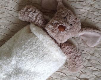 Newborn hand knitted snuggle sac cocoon