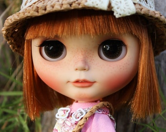 OOAK custom Blythe doll,original takara blythe  Odekake Kimono Musum