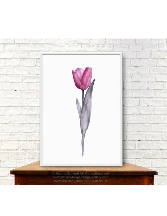 Items similar to pink tulip print abstract flower gift for for 106 door cards